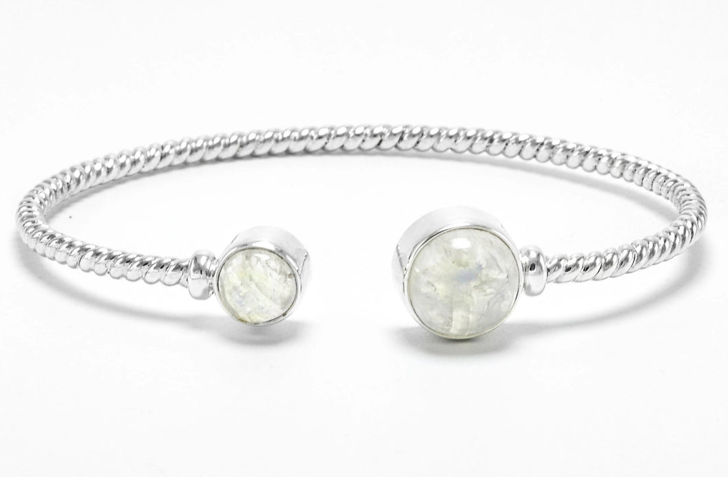 Sterling Silver Moonstone Bangle