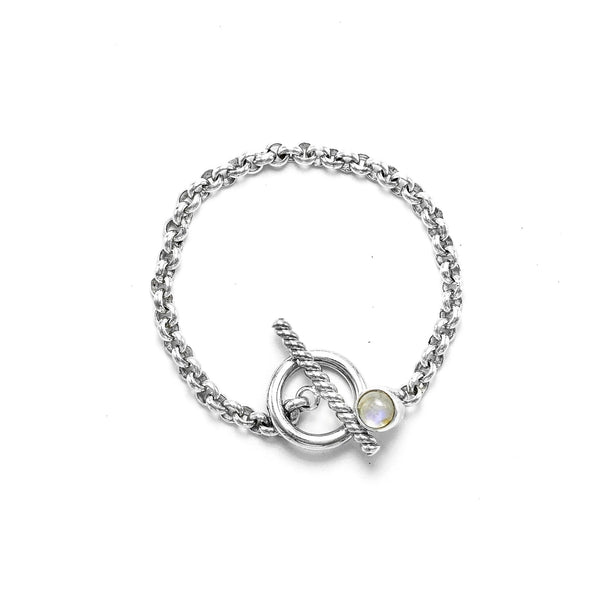 Moonstone Bracelet with a Toggle clasp