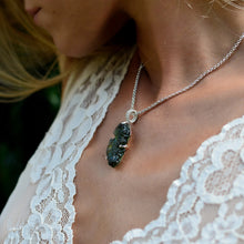 Load image into Gallery viewer, Big Raw Moldavite Pendant