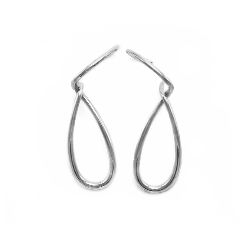 Sterling Silver statement Earrings // Silver