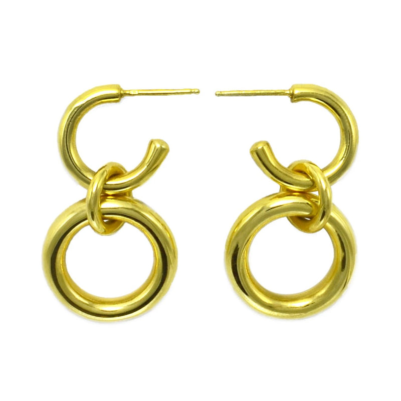 Lightweight Sterling Silver gold plated Hoop Earrings big ioola small // Gold