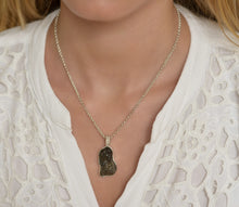 Load image into Gallery viewer, Big Raw Moldavite Sterling Silver Pendant Drop