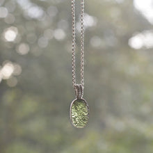 Load image into Gallery viewer, Raw Moldavite Sterling Silver Pendant Oval