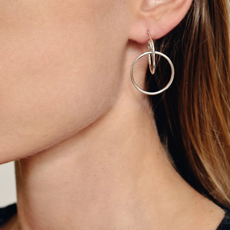 Sterling Silver Thin delicate Spiral Earrings