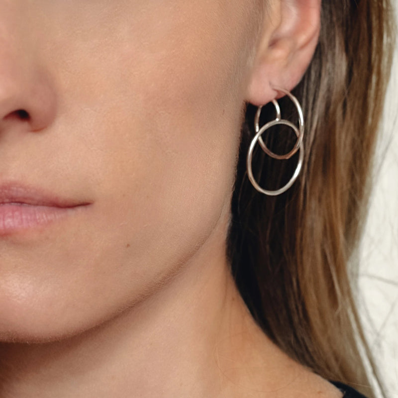 Sterling Silver Thin tender Spiral Earrings