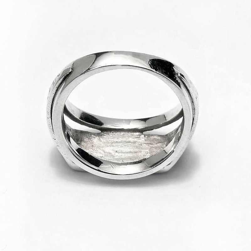 Sterling Silver unique hammered ring ioola