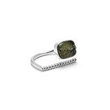 adjustable Moldavite ring size 6 twist