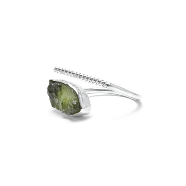 adjustable moldavite ring size 9
