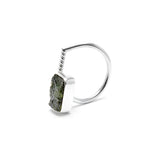 adjustable sterling silver moldavite ring size 7 1/2 twisted