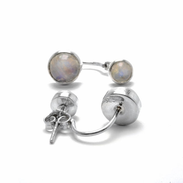 double moonstone sterling silver earrings