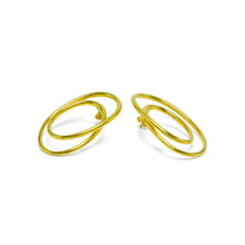 Load image into Gallery viewer, sterling silver gold plated statement earrings ioola