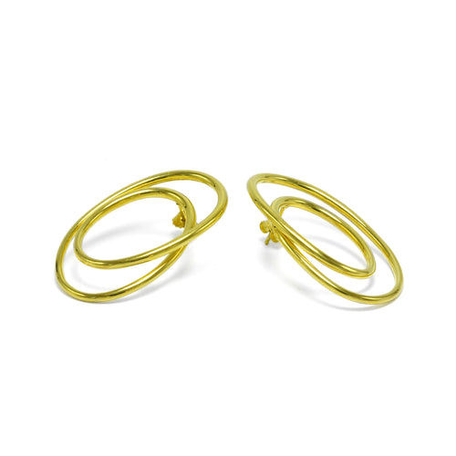 sterling silver gold plated statement earrings ioola
