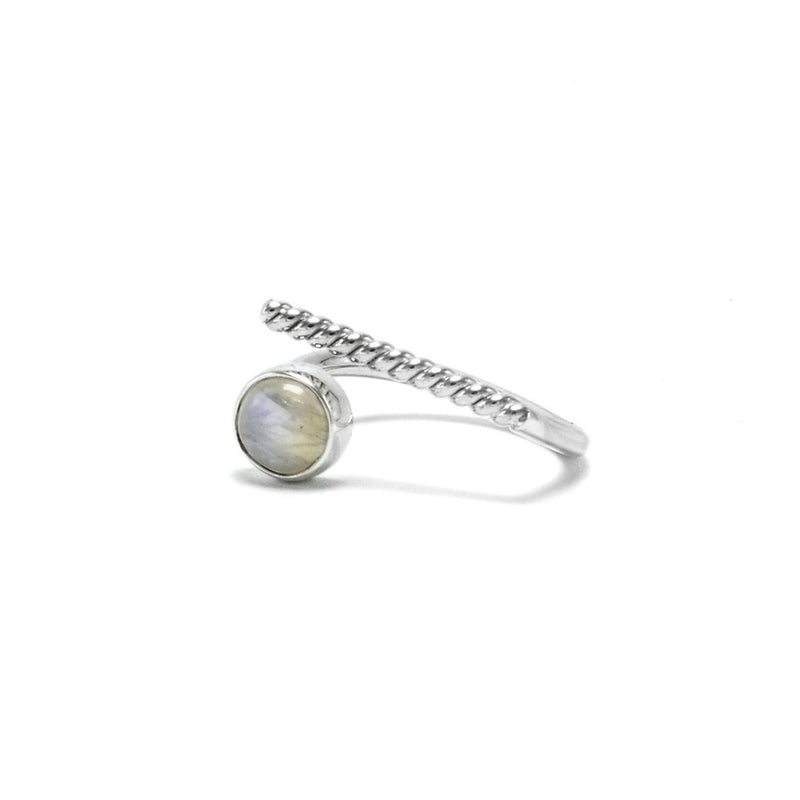 Adjustable Moonstone ring Twisted