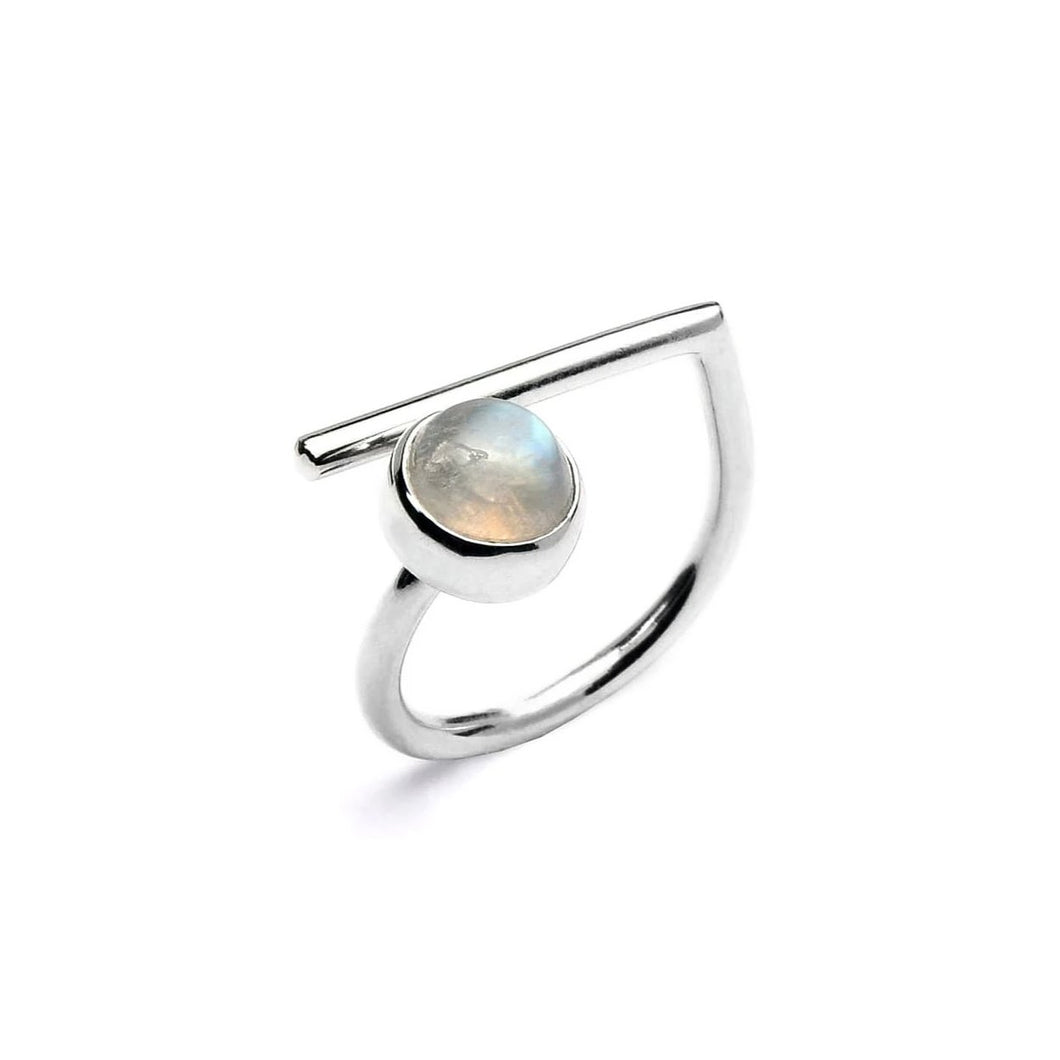 Adjustable Moonstone Ring