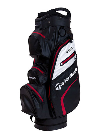 TaylorMade Deluxe Waterpoof Cart Bag - Black/White/Red