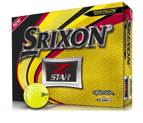 Srixon Z-Star Golf Balls - 1 Dozen Yellow