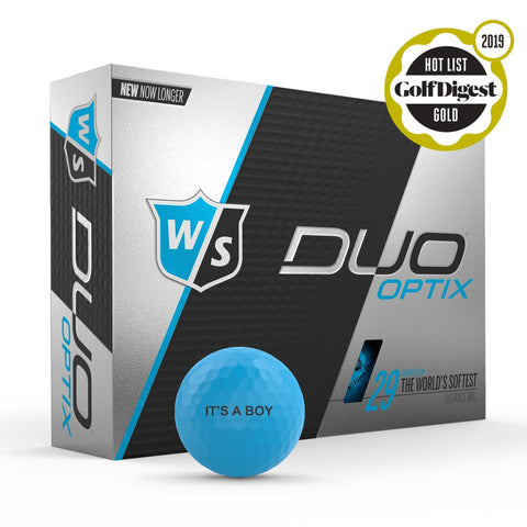 Staff Duo Soft Golf Ball - Optix Blue