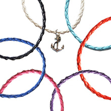 Load image into Gallery viewer, Anchor Nautical Braided Leather Anklets