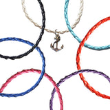 Anchor Nautical Braided Leather Anklets
