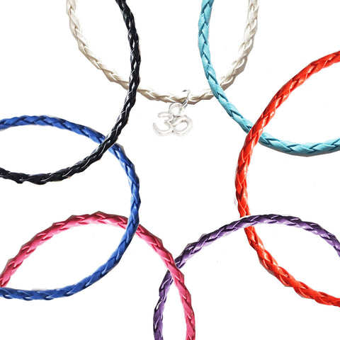 Dainty Om Bohemian Leather Anklets