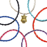 Gold Owl Bohemian Leather Anklets