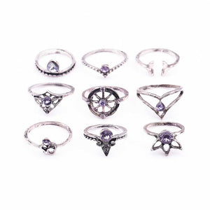 Riordan Stackable Bohemian Ring Set 3