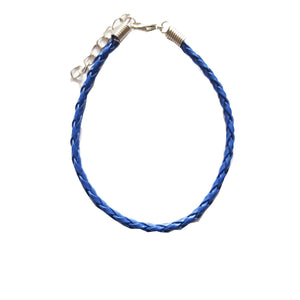 Navy Braided Leather Bohemian Bracelet Anklet