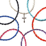 Cross Bohemian Braided Leather anklet
