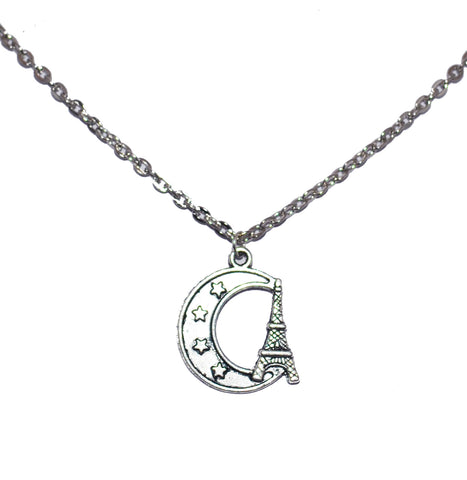 Eiffel Tower Moon Necklace 1