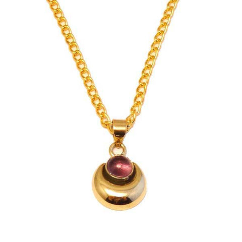 Empress Amethyst Brass Necklace