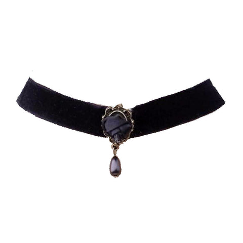 Black rose Velvet Choker 1