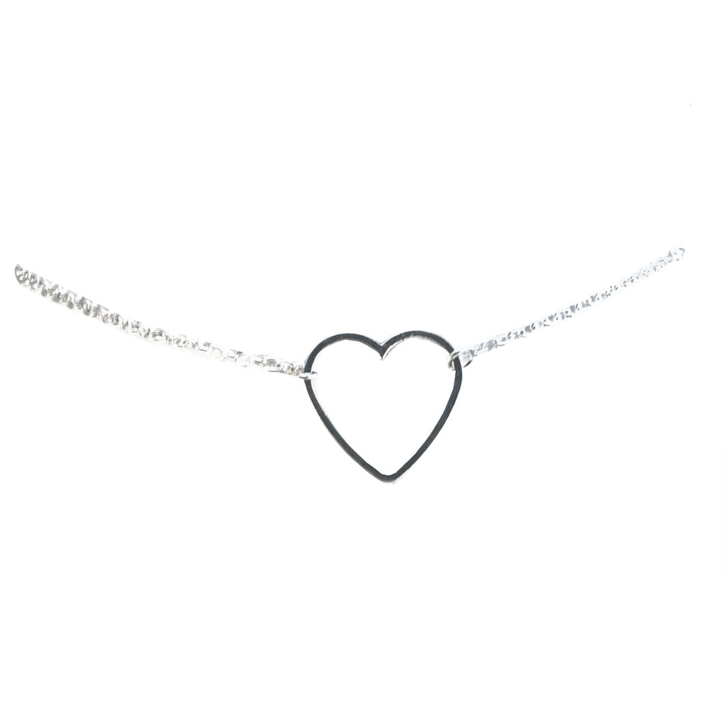 Hollow heart chain choker 1