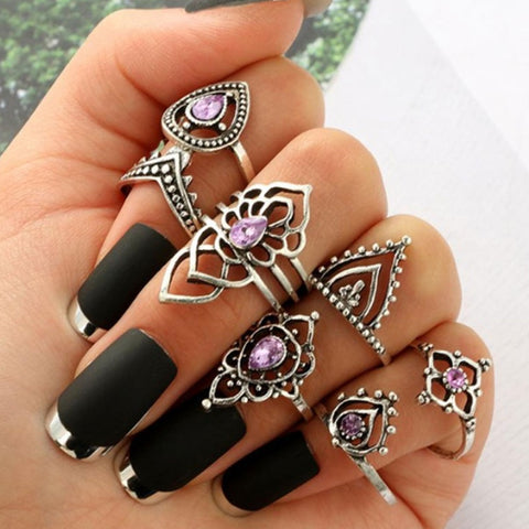 Lilliana Bohemian Stackable Rings 1