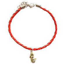 Load image into Gallery viewer, Mermaid Bohemian Leather Charm Anklet Red