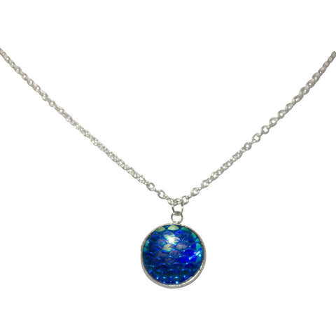 Mermaid Scale Blue Necklace
