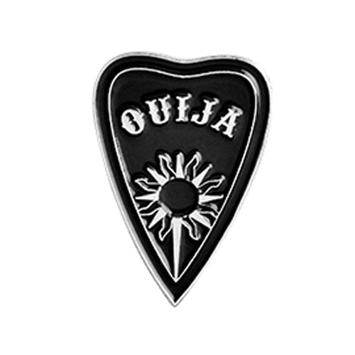 Ouija Sunburst Planchette Gothic Pin Badge 1