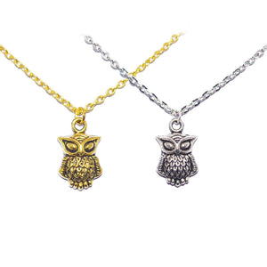 Owl Bohemian Charm Necklace