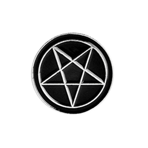 Pentagram Gothic Pin Badge 1