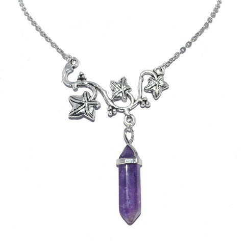 Poison Ivy Amethyst Bohemian Necklace