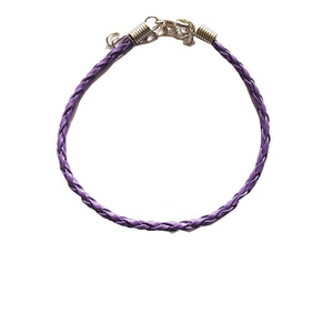 Purple Braided Leather Bohemian Bracelet Anklet