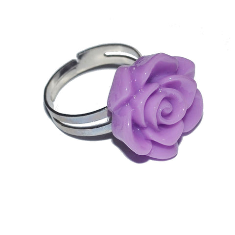 Purple Chunky Kitsch Rose Ring