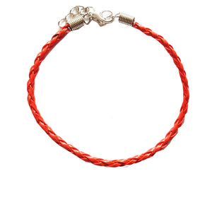 Red Braided Leather Bohemian Bracelet Anklet
