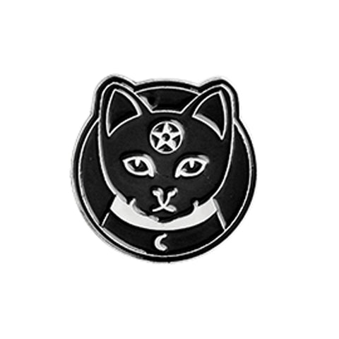 Salem Cat Gothic Pin Badge 1