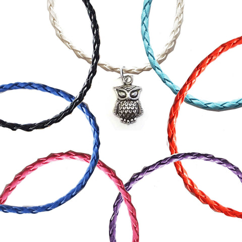 Silver Owl Bohemian Leather Anklets