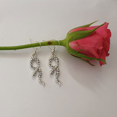 Slithering Snake Drop Earrings