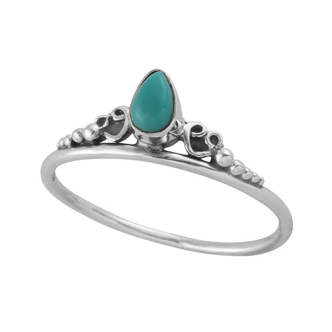 Temple of flux sterling silver boho ring