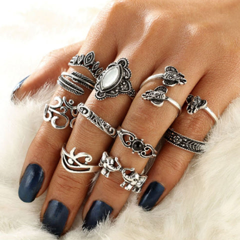 Vinayaki Stackable Boho Ring Set 1