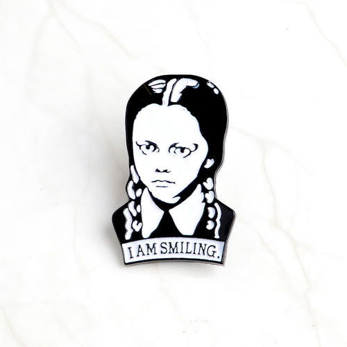 Wednesday addams Gothic Pin Badge 1