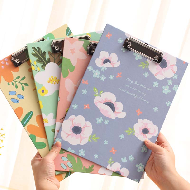 Korean Cute Floral Flower Print Clipboard