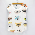 Cute dogs printing summer top